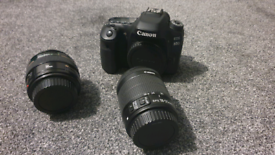 Canon EOS 80D 24.2MP Digital SLR Camera Body + 18-55mm lenses + 50mm