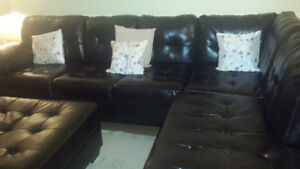 Ashley signature sectional sofa with ottoman