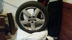 17 in audi rims with Nokia all season tires