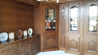 Hand crafted solid oak,system of units,with Murphy Bed