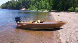 14ft Wooden boat for sale 6000 OBO
