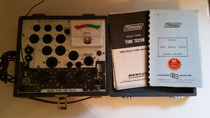 Tube Tester mercury 1100B 1967 with manuals