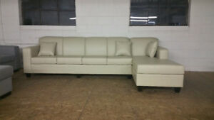 Brand New Ivory Leather Sectional Made in Canada $1000