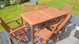 Garden table and chair set 6 seater