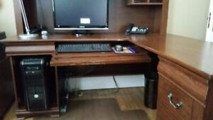 L-shaped Desk with Credenza (only)