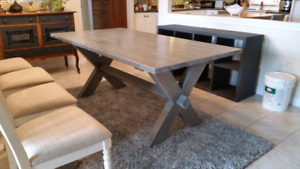 Custom built rustic farmhouse tables, and benches.