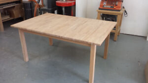 Table 100% bois massif solid wood extendable table