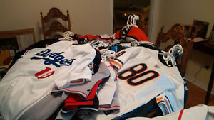 huge lot of NFL, MLB, NHL jerseys! game worn and authentic