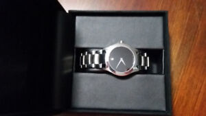 Movado Analog Modern Classic Stainless Steel Bracelet Watch