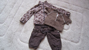 H&M boys jacket and pants + GAP bodysuit 12-24 m $10 FOR ALL