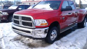 2012 Ram 3500 SLT Pickup Truck Cummins Dually 4x4 Red