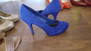 Never worn. Real suede pumps. Size 10. $30