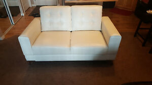2 Seater Love Seat - Cream Colour
