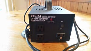 VOLTAGE CONVERTERS 200 AND 1,000 WATTS
