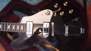 Fs/ft - MIK Epiphone Casino in black archtop hollowbody guitar