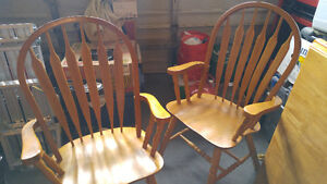 Solid Maple Harvest Table and Chairs London Ontario image 3