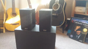 KLH and Pioneer Speakers with subwoofers (two sets)