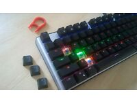 GEEZER Backlit Mechanical Gaming Keyboard & Game Max Gaming Mouse