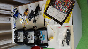 4 RC Helicopters