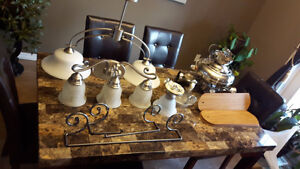 variety of lights and ceiling fan