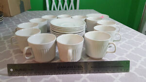White Tea Cup and Saucer Set