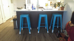 "Brand New 30"" Teal Bar Stools"