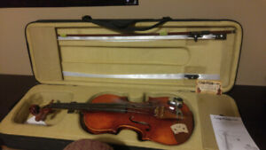 Violin - Adult Size - With Case, Bow, Resin, Electronic Pickup