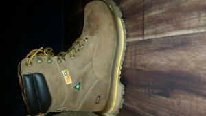 """Size 10 never worn 8""""ankle green patch safety dakota work boots"""