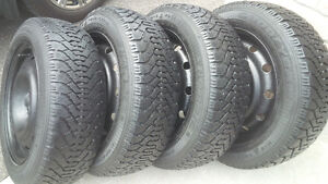 205/55/16 Nordic Winter Snow Tires 5x114.3 Bolt Pattern Wheels