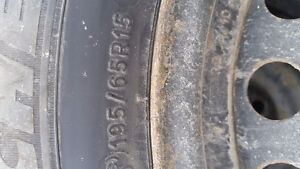 4 great michelin x-ice tires on wheels 195/65/15