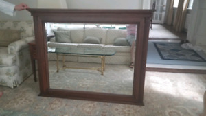 Wood-framed mirror from the Art Shoppe