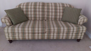 Plaid Couch Peterborough Peterborough Area image 1