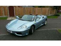 FERRARI 360 SPIDER MANUAL ONLY 10400 MILES FULL FERRARI HISTORY STUNNING