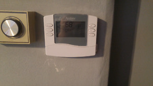 New aprilaire programmable thermostat