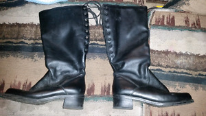 Womens Black Leather riding Boots size 11