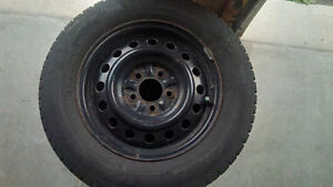 205/65/15 Gislaved Nordfrost 5 winter tires on steel rims
