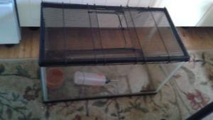 Aquarium cage pour rongeurs hamster souris avec grillage 25 $ 20
