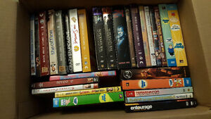 Box of TV series and movies dvd's