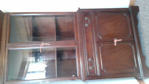Knechtel Antique Corner Hutch Cabinet