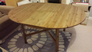 Ikea Leksvik Expanding Leaf Dining Kitchen Table + Delivery