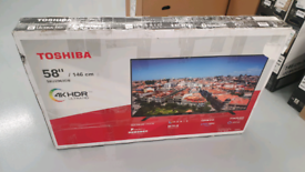 TV TOSHIBA 58INCH SMART WIFI 4K ULTR HD HDR BUILT IN BLUETOOTH