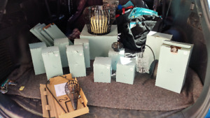 Party Lite 3 wick Candle and Holders 14 pieces (Campbell River)