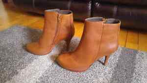 Brand new, never worn, Size 9 Leather Steve Madden Booties $80