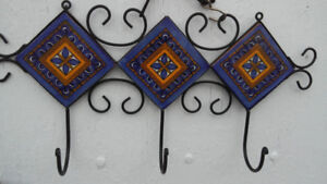 Hanger decorated with Mexican ceramic tiles 15 dollars