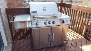 100% Stainless BBQ w/searing burer and back grill - Natural Gas