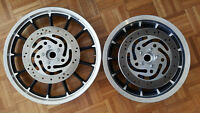Mint set of 13 spoke harley mags. black and silver machined.