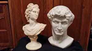 David and Apollo busts