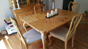 French style Pine Dining Set