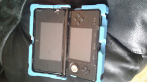 Nintendo 3DS with nerf protection case and charger