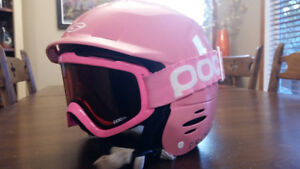 Kids Giro Helmet and Poc Goggle